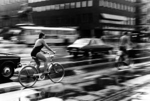 cyklar i regn